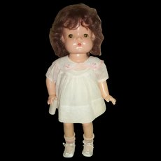 .Original Effanbee Composition Wigged Patsy Joan Doll Wearing Tagged Dress