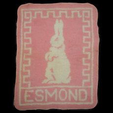 MINT!! Vintage Effanbee Dy-Dee Doll Pink Eiderdown Esmond Bunny Blanket