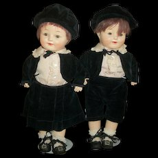 Adorable 1920's Horsman All Original Horsman Twin Boy & Girl Dolls