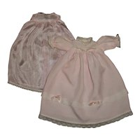 "Effanbee 9"" Babyette Pink Christening Gown With Slip"