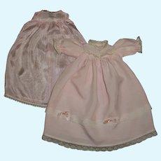 "Effanbee 9"" Babyette Pink Christening Gown With Slip"