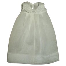 Effanbee Dy-Dee White Eyelet Embroidered Collar Organdy Gown
