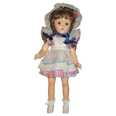 Darling 1940s American Character Petite Composition Girl With Box