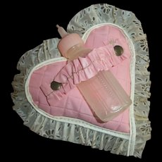 Original American Character Tiny Tears Quilted Vinyl Heart Bottle Holder