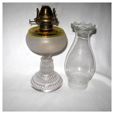 Scarce Hobbs Frances Ware Oil Lamp