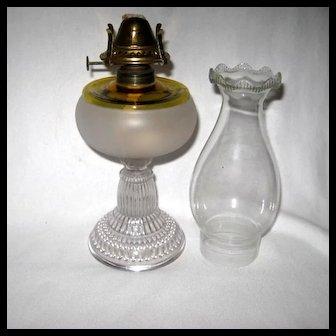 Scarce Hobbs Frances Ware Oil Lamp