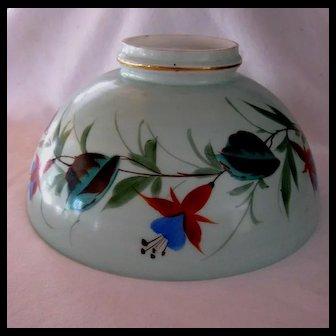 Ten Inch Painted Fuchsias Oil Lamp Shade