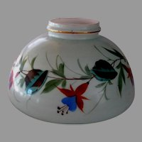 Ten Inch Painted Fuchsias Oil Lamp Shade