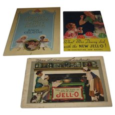 Three Advertising Gelatin Cookbook Booklets Early 20th Century