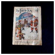 Christmas 1927 Farm Journal Magazine - Santa Cover