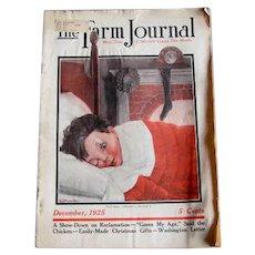 Christmas 1925 Farm Journal Magazine