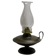 Nineteenth Century Brass Finger Oil Lamp