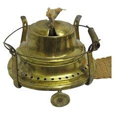 Spring Loaded Oil Lamp Burner 1892