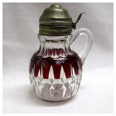 Ruby Stained Decorated Syrup - Corona or Sunk Honeycomb