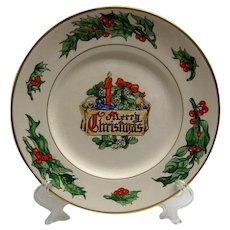 Colorful and Large Merry Christmas Plate