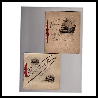 Two 1890s Christmas Gift Booklets