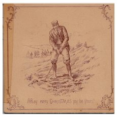 Mechanical Fold Out Christmas Card - Golf