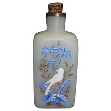 Early White Opaque Cologne Bottle