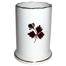 Tea Leaf Ironstone Vertical Brush Holder
