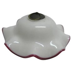 Very Petite Oil Lamp Smoke Bell - Deep Rose Rim