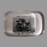 Henry Hooker & Co. Carriage Maker Paperweight - 19th Century