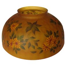 Fenton for LG Wright Hanging Oil Lamp Shade - Signed