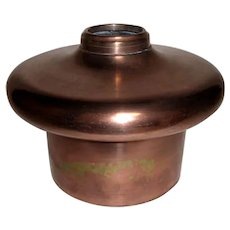 Large Old Copper Finish Oil Lamp Font