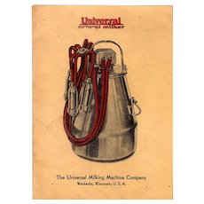 Universal Milking Machine Company Advertising Booklet