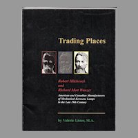 Hitchcock, Wanzer Mechanical Oil Lamps book - Trading Places by Lister