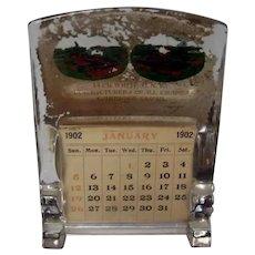 1902 Raritan Woolen Mills Paperweight Type Calendar