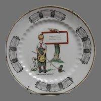 1930 Calendar Plate Geronimo, Texas Advertising