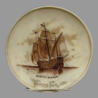 1893 World's Fair Santa Maria Plate - Double Signed