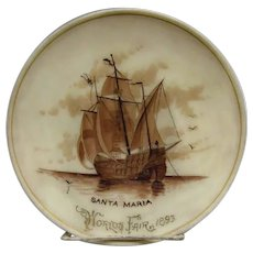 1893 World's Fair Santa Maria Plate - Double Signed