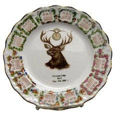 1909 BPOE Cincinnati Lodge No. 5 Calendar Plate