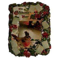 1907 die cut fold down calendar - Gladsome Year