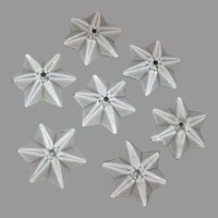 Star Shape Glass Crystals From an Old Victorian Chandelier