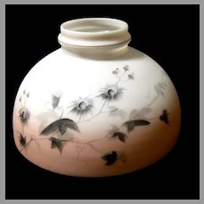 Ten Inch Painted 19th Century Oil Lamp Shade
