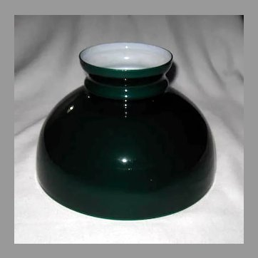 Green Cased Ten Inch Oil Lamp Shade