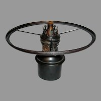 Junior Size Oil Lamp Font, Burner and Shade Ring