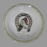 1911 Advertising Calendar Plate Bowl - Bushwood, Md - Horses