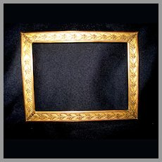 Small Brass Picture Frame With Leaf and Berry Decorations