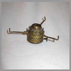 Old Nutmeg Miniature Oil Lamp Burner With Adjustable Tripod