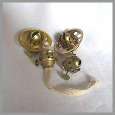 Miniature Oil Lamp Nutmeg and Acorn Burner Group