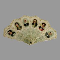1901 Die Cut Fan Poet's Calendar