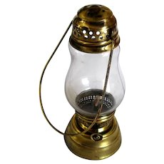 Old Brass Small Kerosene Oil Skater's Lantern