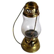 Old Brass Small Kerosene Oil Skater's Lantern