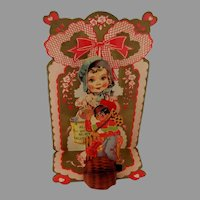 Die Cut Large Valentine Fold Down Girl and Boy