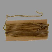 Old Unused Brass Ladder Chain -  Four Plus Yards