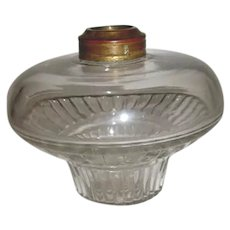 Small Tapered Glass Oil Lamp Font For Bracket Lamp