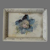 Celluloid Picture or Dresser Tray